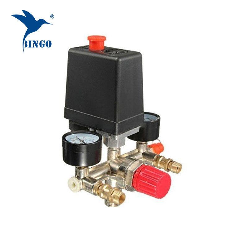 125psi 1 port kompressor tryckbrytare med regulatormätare