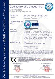 CE för tryckbrytare