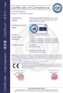 roterande spjällnivåbrytare CE-1